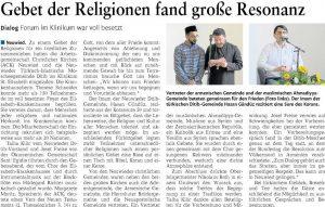 Gebet der Religionen